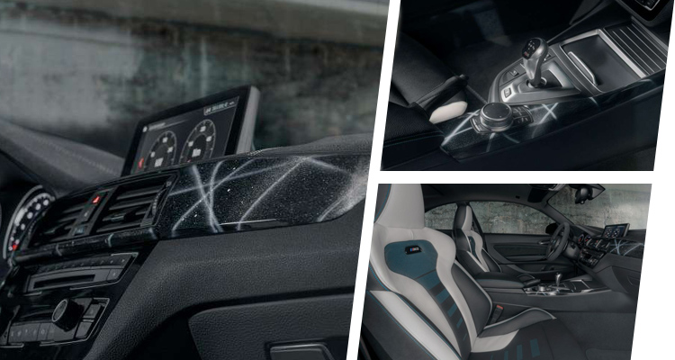Interior image collage of the BMW M2 by Futura 2000