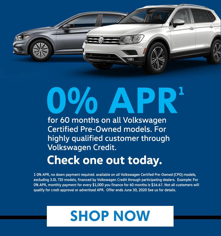 0% APR on VW CPO models